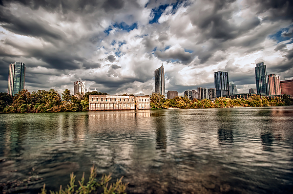 Austin Skyline on Lady Bird Lake by John Maffei